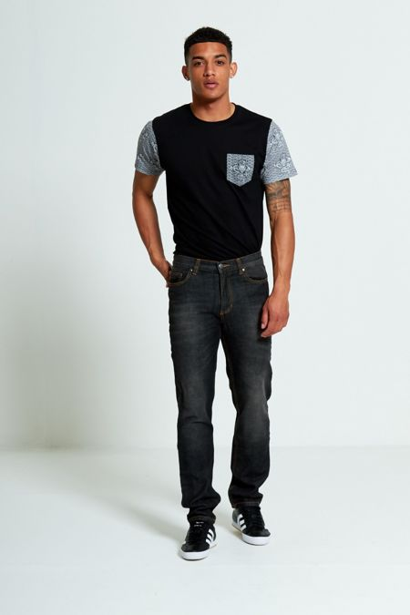 Black Mid Rise Regular Fit Jeans