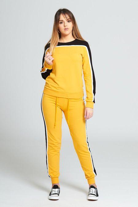 Yellow Stripe Tracksuit