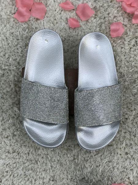 Grey Block Coloured Glitter Sliders