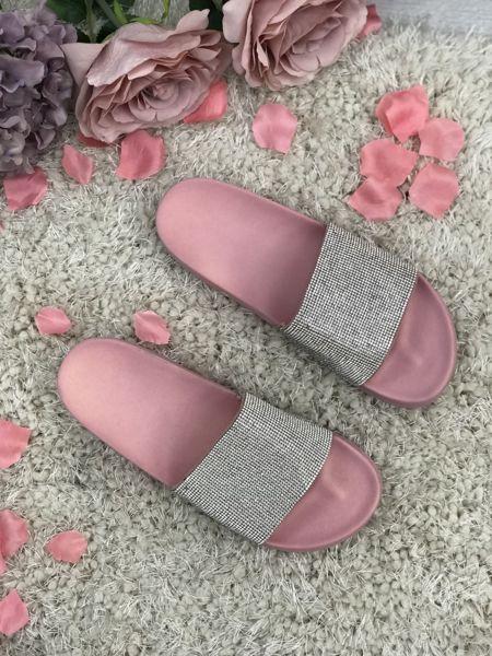 Pink Block Coloured Glitter Sliders