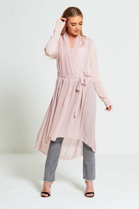 Chiffon Sheer Long Cardigan