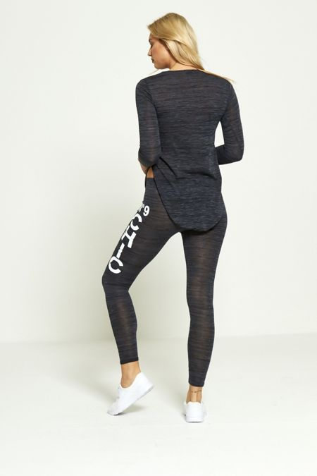 Plus Size Black NO9 Chic Tracksuit
