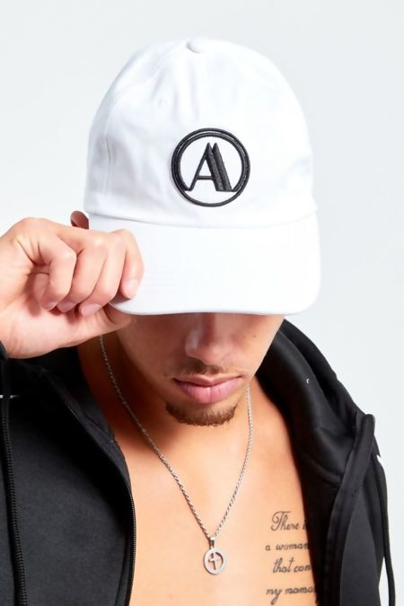 Mens White Aarhon Baseball Cap