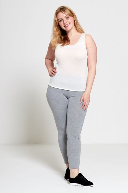 Grey Plus Size Laser Cut Leggings-Copy