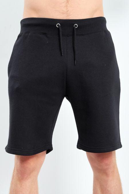 Black Classic Plain Shorts