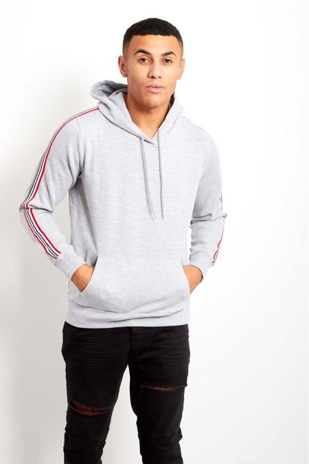 Grey Brave Soul Multi Coloured Striped Hoody