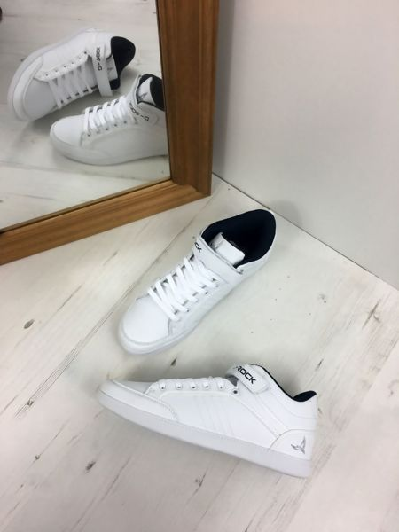 White Denver High Top Trainers