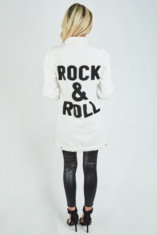 White Rock and Roll Denim Jacket