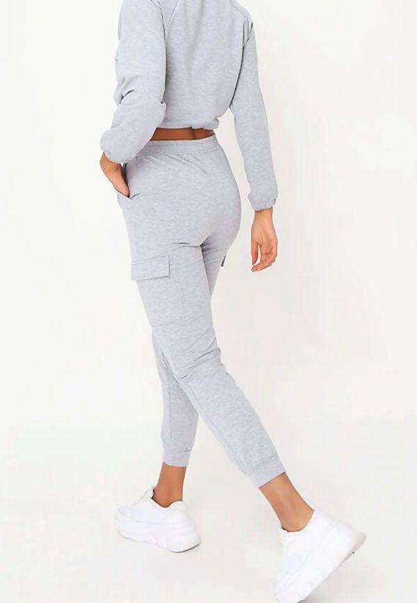 Grey Front Pocket Half Zip Lounge Set Preorder