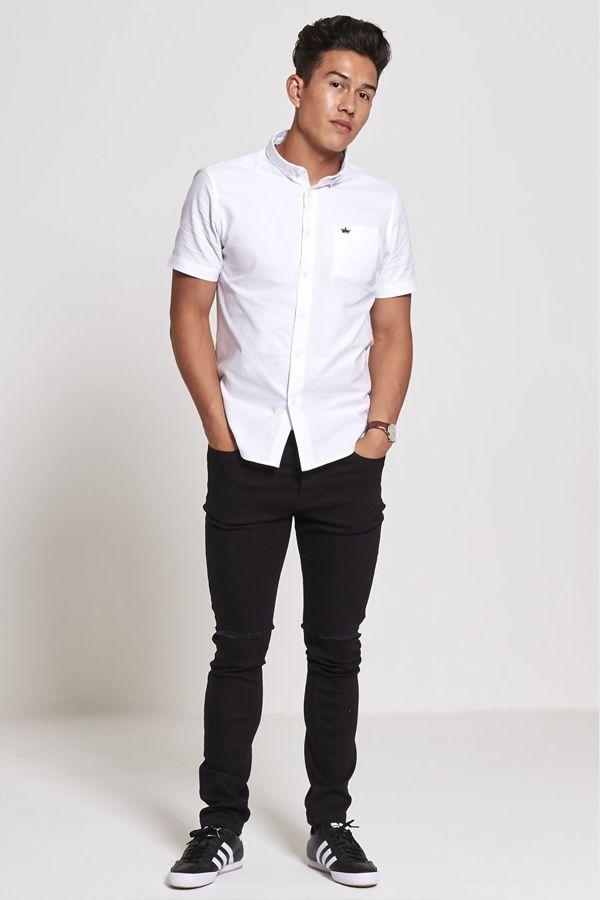 Black Knee Ripped Skinny Fit Jeans
