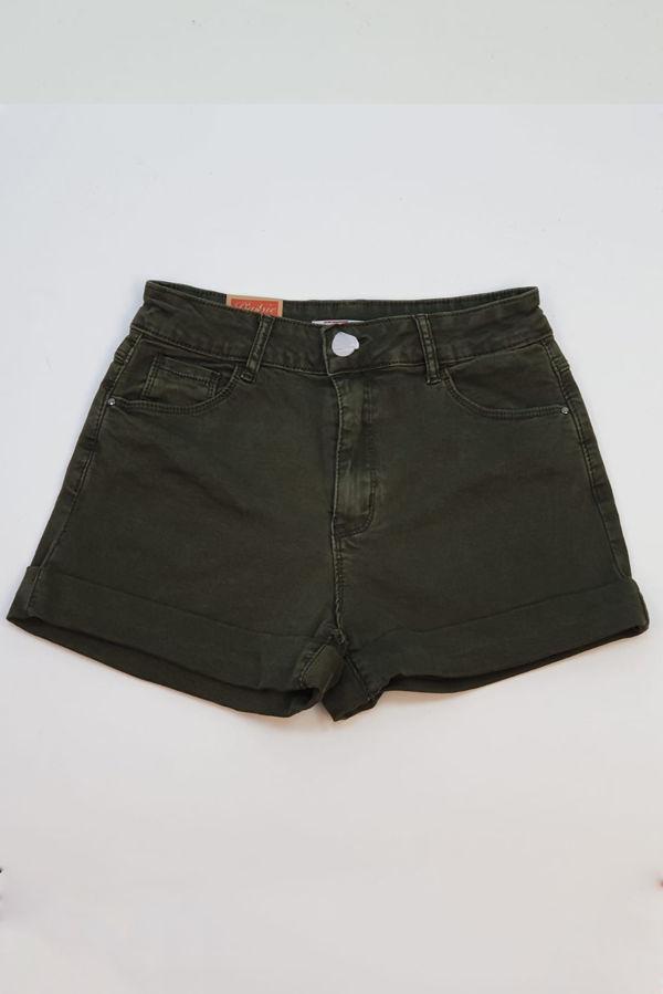 Khaki Basic Denim Shorts