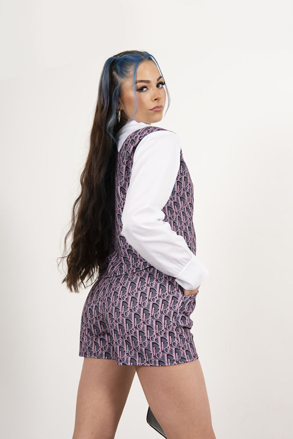 Printed Crop Top And Shorts Co-Ord