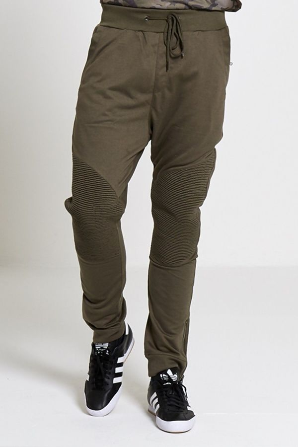 Camel Stylish Knee Ribbed Trousers