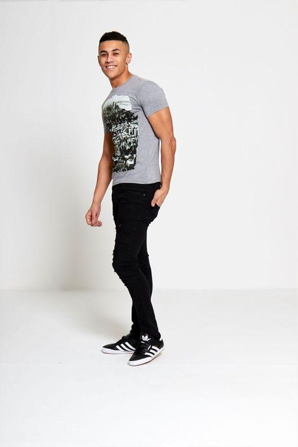 Charcoal New York City Printed T-shirt