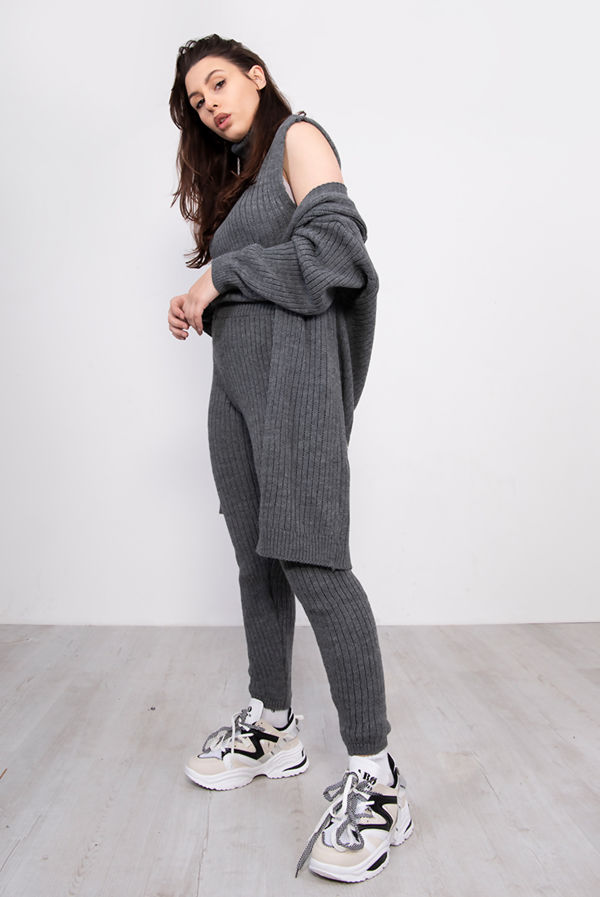 3 Piece Knitted Roll Neck Lounge Set