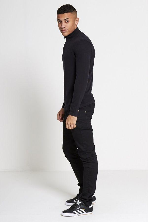 Black High Neck Knit Jumper