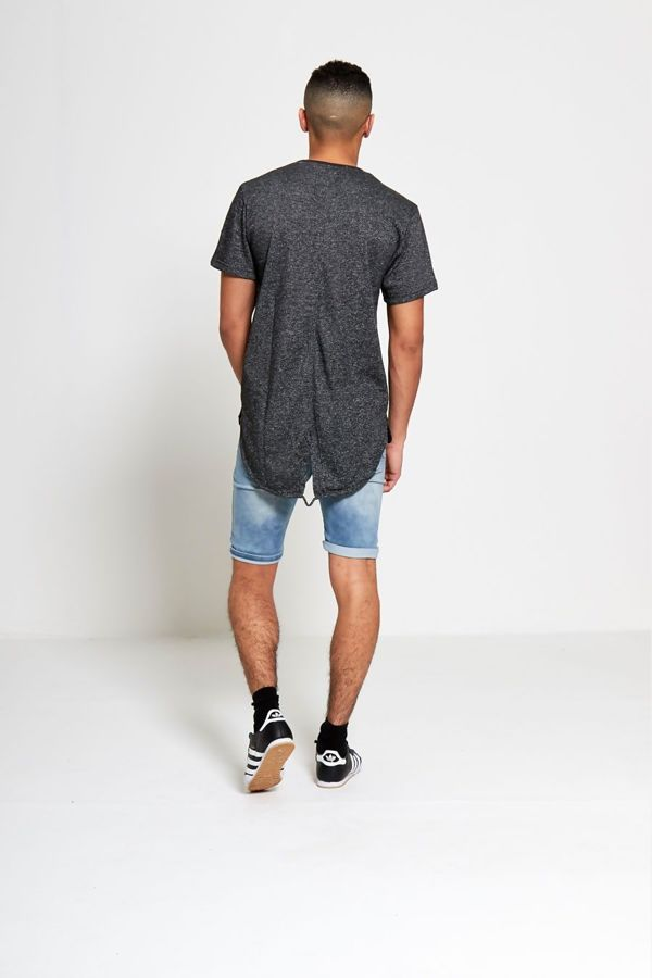 Charcoal Marl Fishtail T-shirt