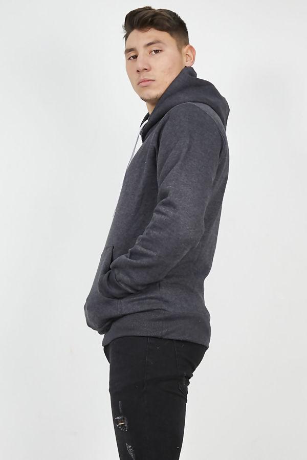 Charcoal Flex Fleece Pullover Hoodies-