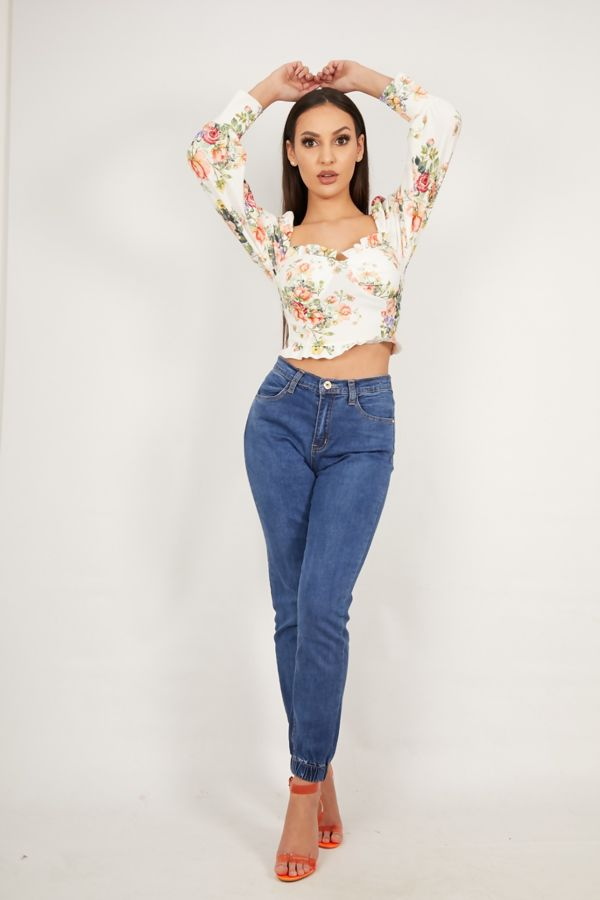 Floral Milk Maid Top
