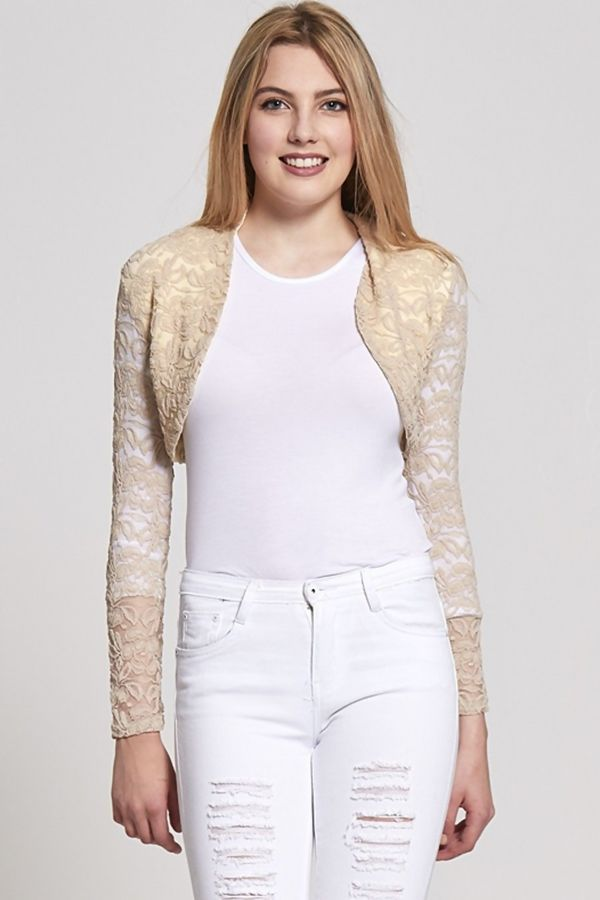 Cropped Lace Shrug