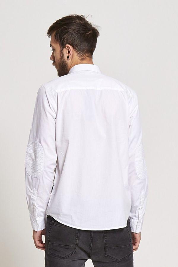 White Zipped Pocket Shirt