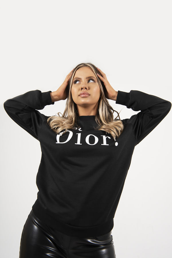 Black Oh My Dior! Sweatshirt