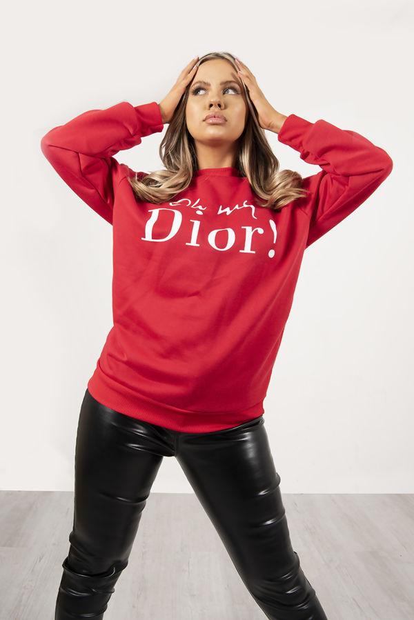 Red Oh My Dior! Sweatshirt