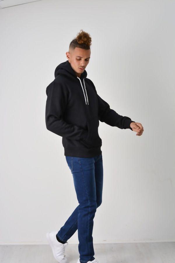 Black Flex Fleece Pullover Hoodies
