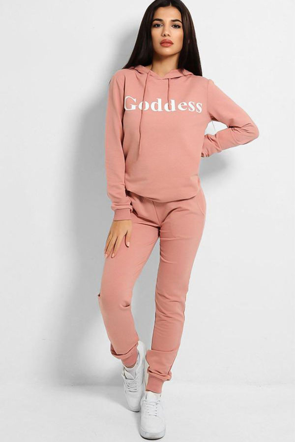 Plus Size Dusty Goddess Hooded Lounge Set