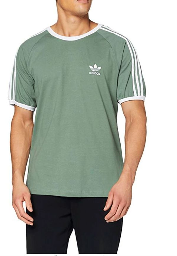 Adidas Mens 3-Stripes Short Sleeves T-Shirt
