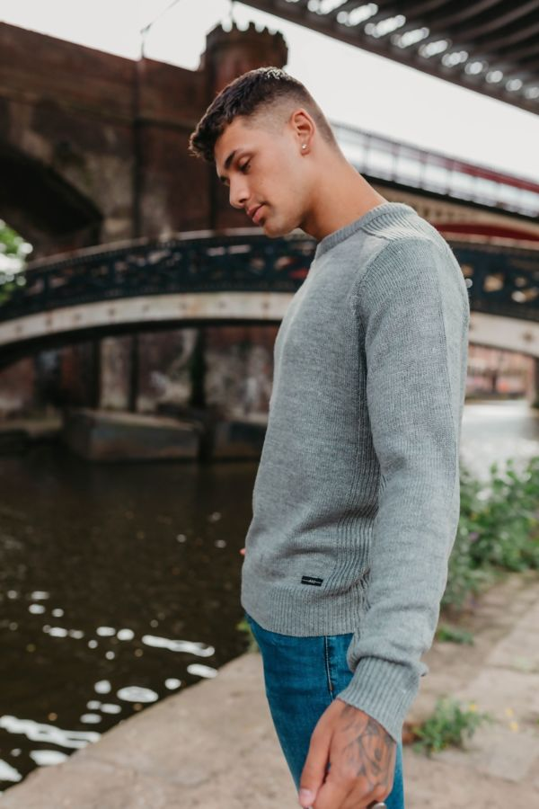 Grey Fine Knit Jumper