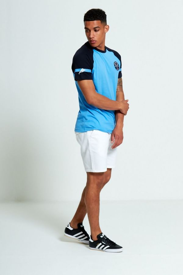 Aqua Athletic Patch Raglan Short Sleeve T-Shirt