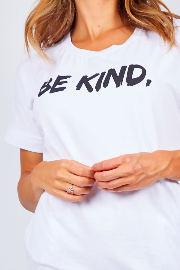Be Kind Slogan Tee Dress