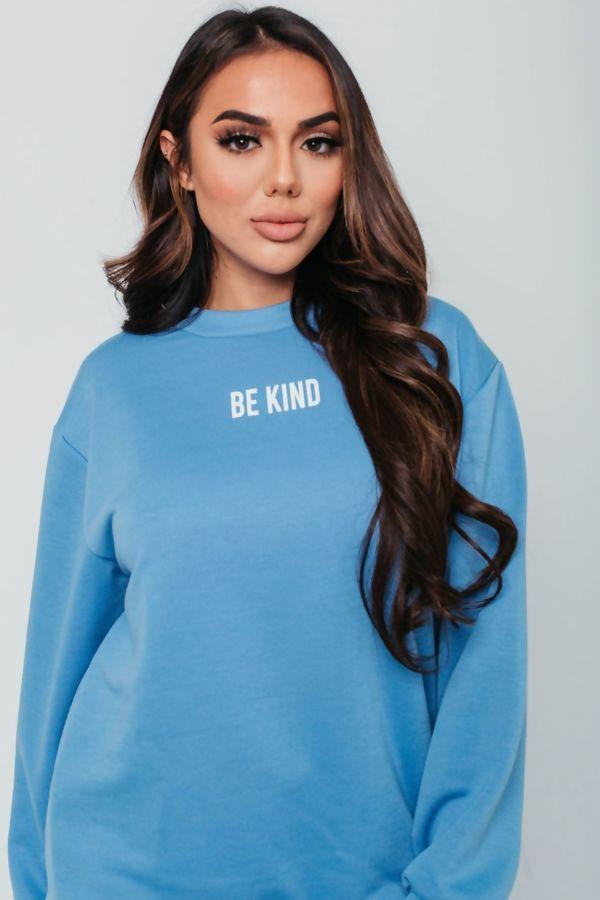 Blue Be Kind Sweatshirt 8 Pack