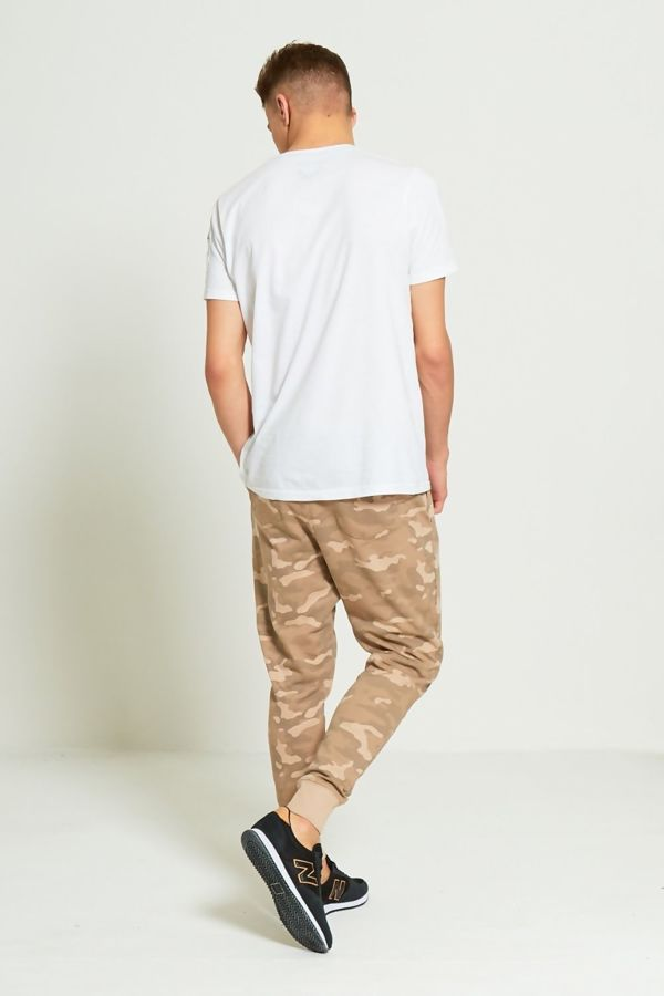 Beige Camo Jogging Bottom