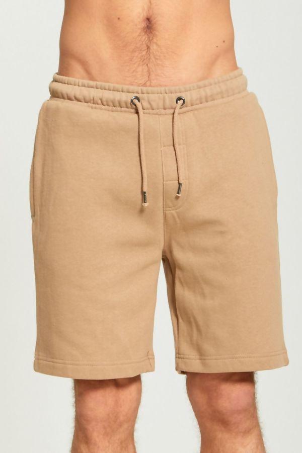 Beige Jersey Sweat Shorts