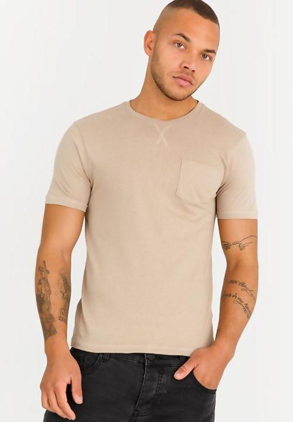 Beige Short Sleeve Summer T-Shirt