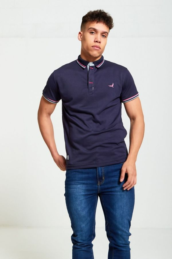 Bird Print Polo T-Shirt