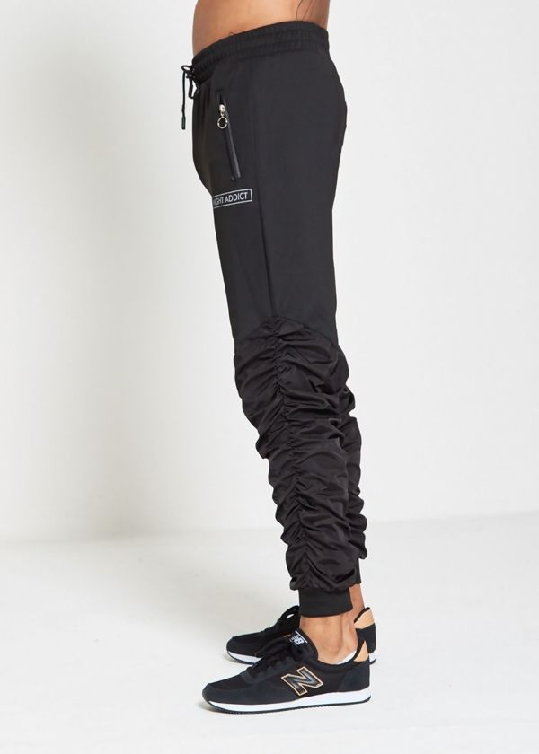 Black Addict Ruched Jogger