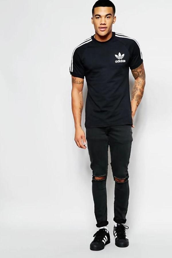 Black Adidas California Originals Sport Essential T-Shirt