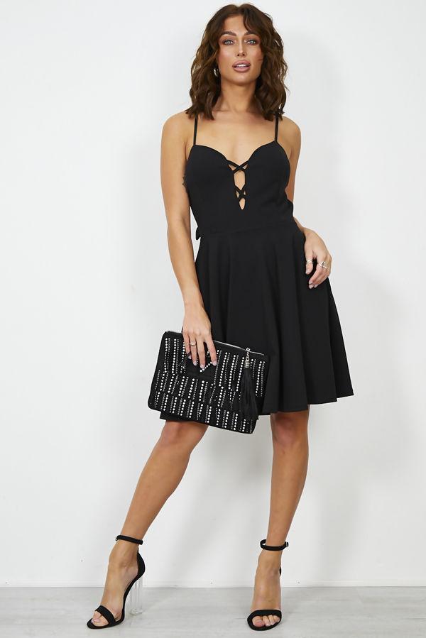 Black Back Knot Dress