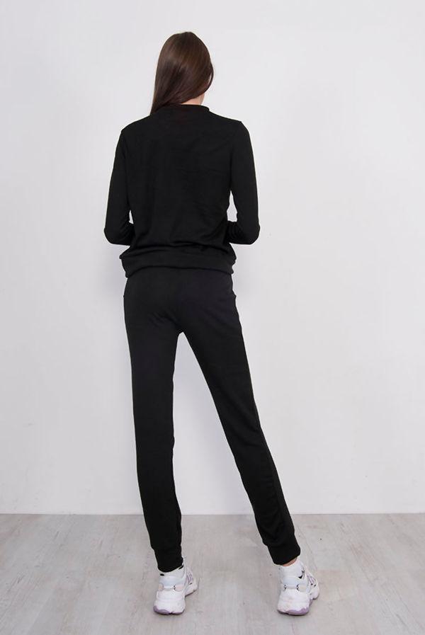 Black Back To Basic Vogue Skinny Tracksuit