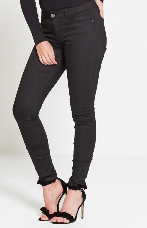 Plus Size Black High Waist Skinny Jeans