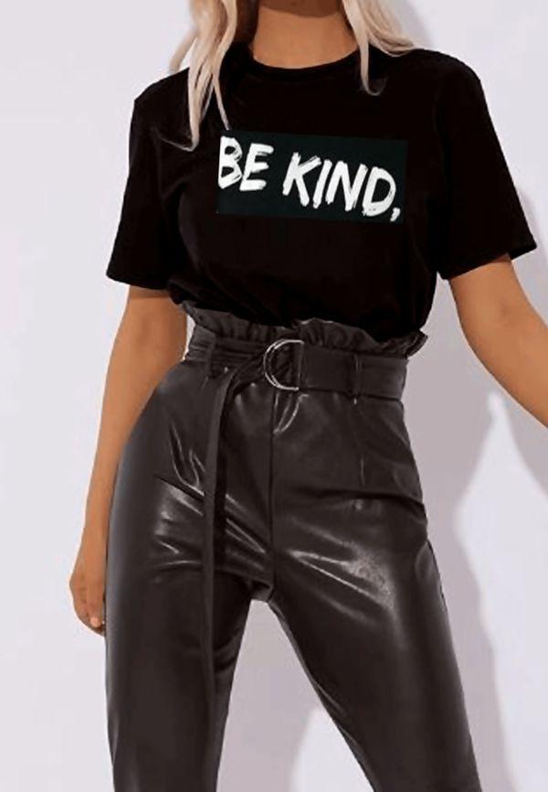 Black Be Kind Tee Top