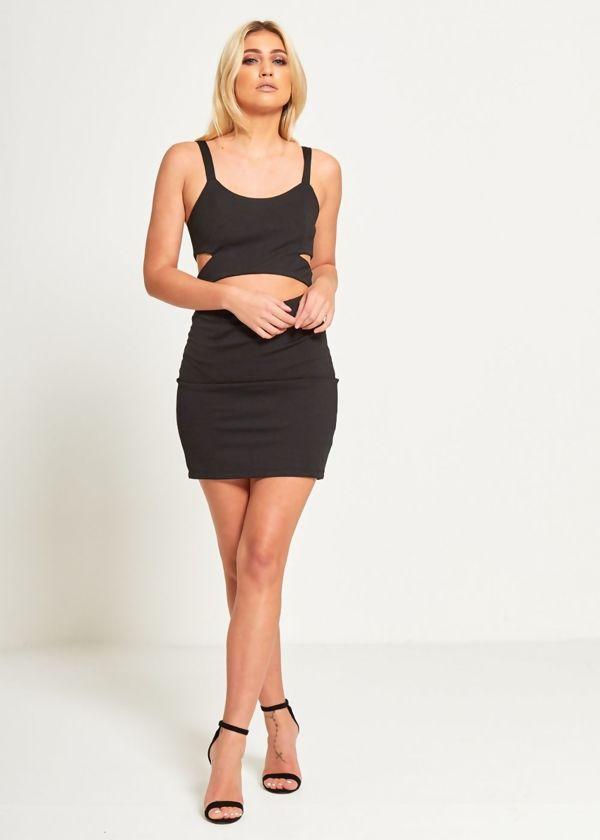 Black Bodycon Cut Out Mini Dress