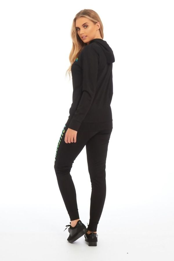 Black California Hood Skinny Fit Tracksuit