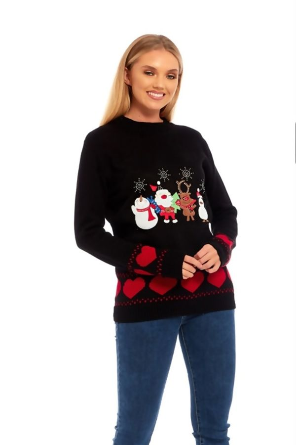 Black Christmas Eve Jumper