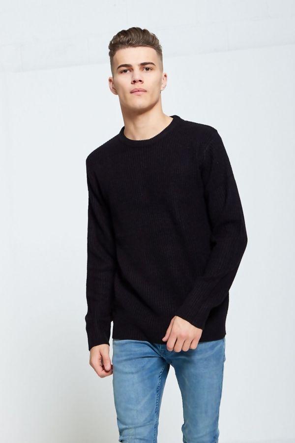 Black Fine Knit Jumper