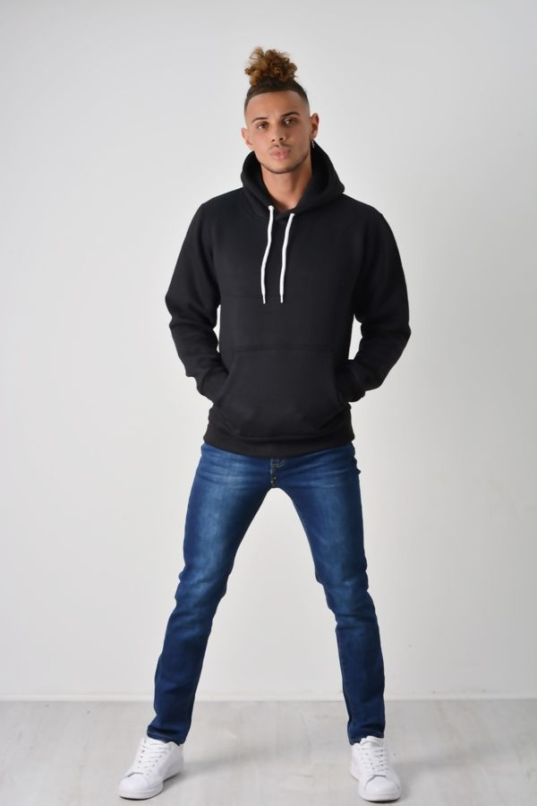 Black Flex Fleece Pullover Hoodies