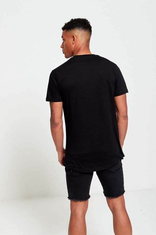 Black Floral Patch T-Shirt